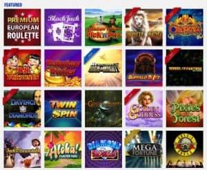 Featured casino games at BGO