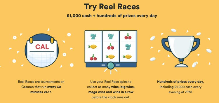 Casumo Reel Race - Slots tournaments