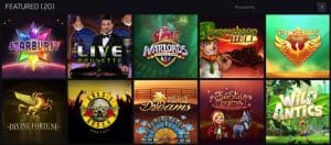 Featured casino games at Maria Casino