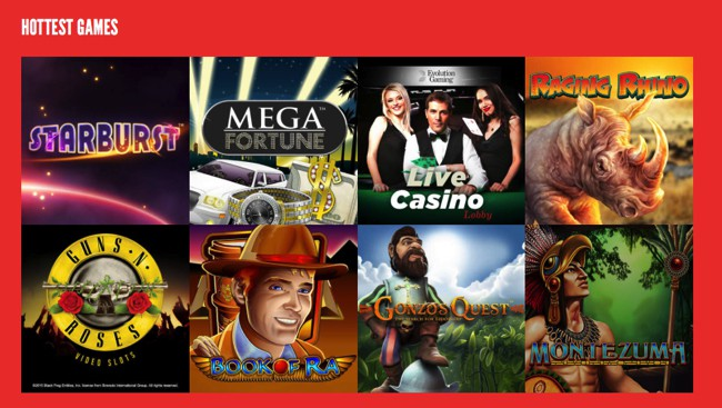 Popular casino games at Rizk Casino
