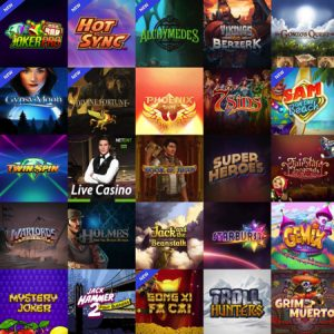 Popular casino games at Thrills Casino