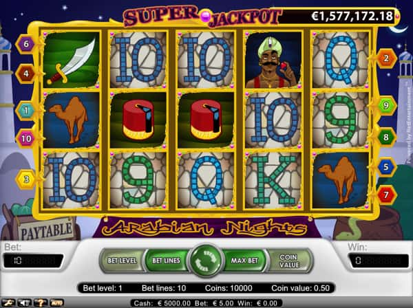 Arabian Nights - Progressive Jackpot