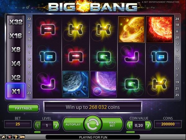 Big Bang Video Slot