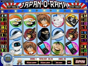 Japan-O-Rama video slot