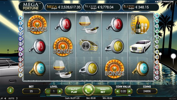 Mega Fortune Slot with progressive jackpot