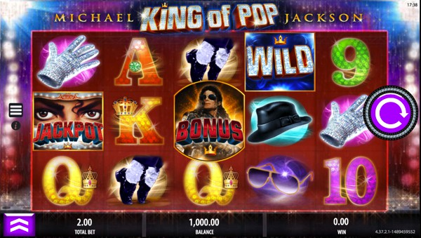 Michael Jackson: King of Pop video slot