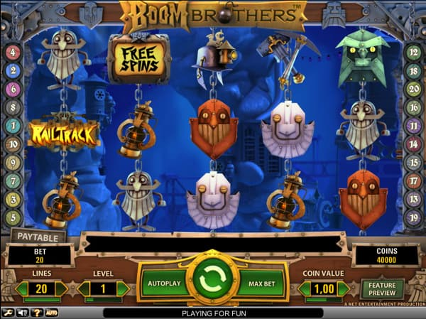 Boom Brothers Video Slot