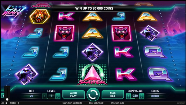 Neon Staxx Video Slot