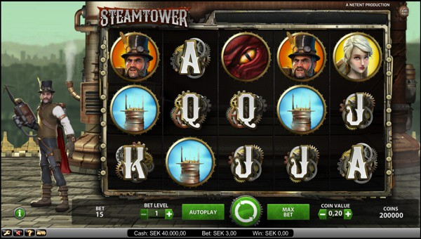 Steamtower video slot